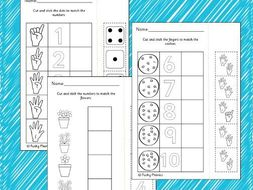 Counting to 10 - Cut and Stick Worksheets by FunkyPhonics - Teaching ...