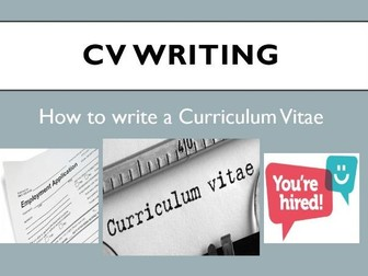 How to Write your CV Assembly/Lesson