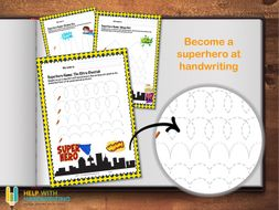 Superhero Cursive Writing Sheets