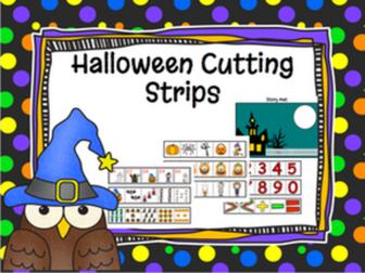 Halloween Cutting Strips and Math Activities