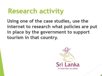 Travel and Tourism - National Policy