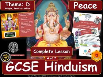 Pacifism - Comparing Hindu & Christian Views (GCSE Hinduism - Peace & Conflict) Peace - L4/7