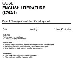 Aqa English Literature Mock Paper For Macbeth Jekyll And Hyde And A  Aqa English Literature Mock Paper For Macbeth Jekyll And Hyde And A  Christmas Carol By Stealthteaching  Teaching Resources  Tes