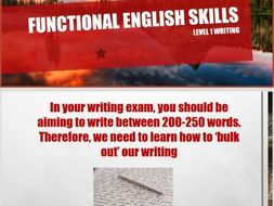 Functional English Skills Creative Writing  Lesson: How to Bulk Out and Plan Your Writing