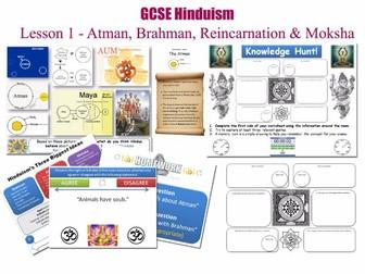 GCSE Hinduism - Lesson 1/20 [Atman, Brahman, Reincarnation, Moksha, Philosophy] (Complete Resources)