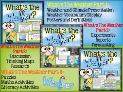 Weather Activities | Literacy | Maths | Weather Unit | Bundle
