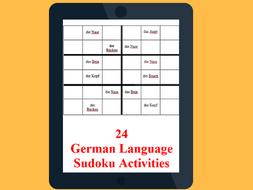 24  German Language Sudoku Activities