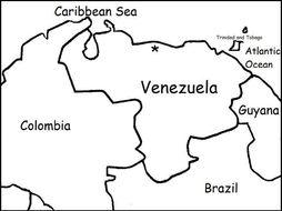 VENEZUELA - Printable handout with map to color