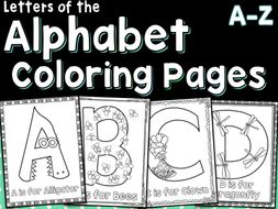 Letters Of The Alphabet Coloring Pages A-Z by vlrynn - Teaching ...