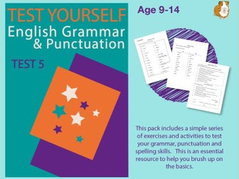 Assessment Test 5 (Improve Your English Work Pack) 9-14 years