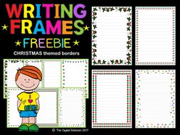 Christmas Winter Writing Frames Page Borders Freebie 35