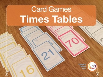 Times Tables   Card Game for Times Tables and Multiples