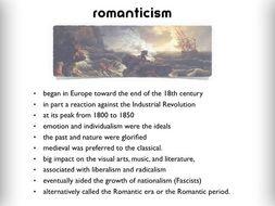 Romanticism ~ Art History ~ Romance Era Show ~  186 Slides ~ Public Domain Art