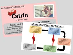 GCSE Literature Catrin Poetry Lesson