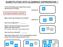 Algebraic Substitution Introduction - Basic visual introduction