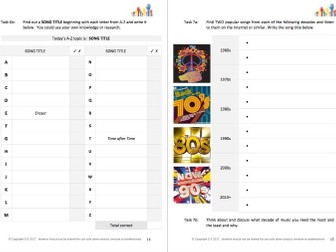 LITERACY - EXPLORE IT (1) - SOUNDS & MUSIC student workbooklet
