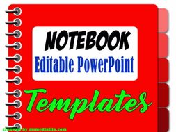 Notebook Powerpoint Slide Template By Ednam1 Teaching Resources Tes