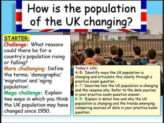 UK Population  - Edexcel Citizenship