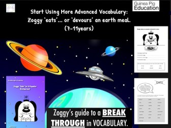 Zoggy 'Eats'... or 'Devours' An Earth Meal (Breakthrough In Vocabulary) 7-11