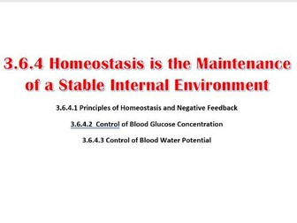 Homeostasis is the maintenance of a stable internal environment