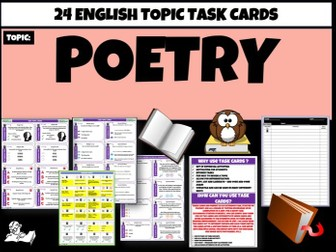 Poetry - English Task Cards