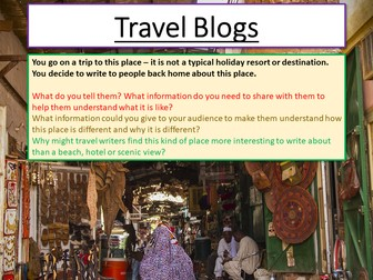 Travel Writing - Travel Blogs