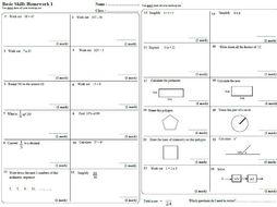 Help with maths homework ks3
