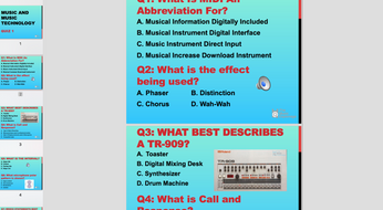 Quiz: Music and Music Technology – Pack 1