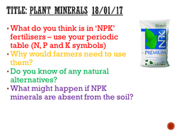 Plant minerals complete lesson ks3 by mattnick1in teaching plant minerals complete lesson ks3 urtaz Choice Image