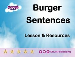 Burger Sentences Lesson & Resources