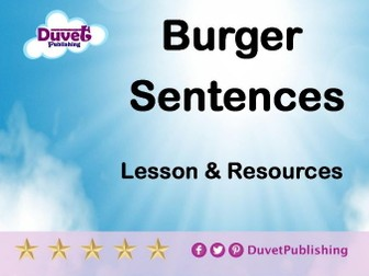 Burger Sentences Lesson & Resources