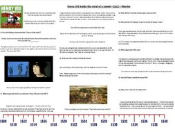 Henry VIII - Inside the Mind of a Tyrant - Ep2. Warrior - Supporting Worksheet