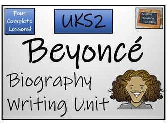 UKS2 Literacy - Beyonce Biography Writing Activity