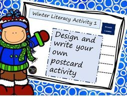 Winter literacy activity - write a postcard