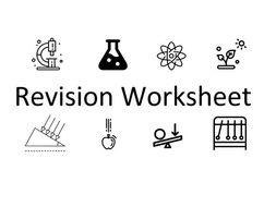 KS3 Revision Worksheet: Eco & Microbes