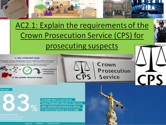 Criminology Level 3(New Spec)Unit 3 Crime Scene to Court Room AC2.1 Requirements of the CPS