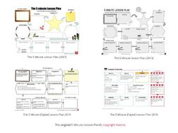 The 5 Minute Lesson Plan by @TeacherToolkit