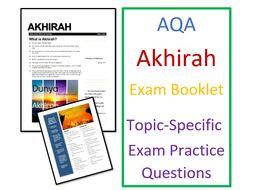AQA Islam Beliefs: Exam Booklet on Akhirah Afterlife in Islam