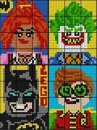 Colouring by Ratio Application, Lego Batman BUNDLE (four 12-sheet collaborative math mosaics)