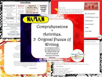 Comprehensions and Activities - Naplan Reading