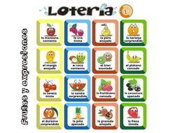 Spanish Bingo - Lotería - Frutas y expresiones