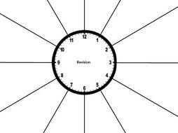 Clock Template | Revision Clock Editable Template