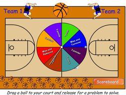 Math Multiplication & Division Hoop Shoot basketball Smart Board game: Bundle!