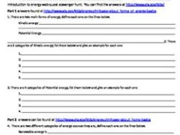 Introduction to energy web quest