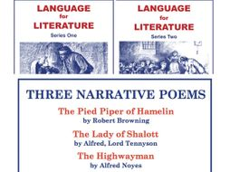 Language for Literature and Three Narrative Poems 3 SoW Bundle