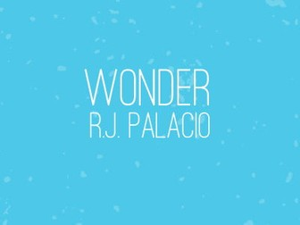 Wonder by RJ Palacio - Close Reading Lesson 1 - August's New School