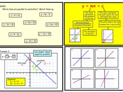 y=mx+c Equations of straight lines (notebook)