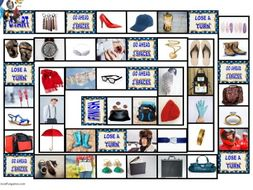 Clothing, Accessories, Footwear and Jewelry Animated Board Game