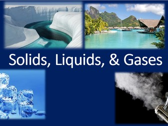 Solids, Liquids and Gases pre-test NEW SYLLABUS