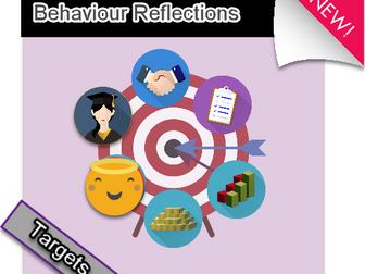 Behaviour Target sheet for student